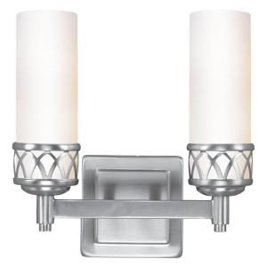Livex Lighting 2 Light Brushed Nickel Candelabra Bath Vanity CLI MEN4722 91