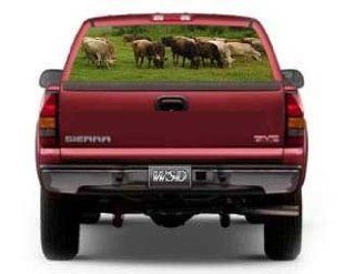 "See Through Rear Window Graphic with Brown Swiss Cattle Scene   29"" h x 66"" w (Large SUV/Van)"