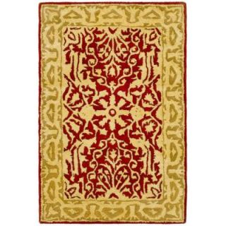 Safavieh Silk Road Maroon and Ivory 3 ft. x 5 ft. Area Rug SKR213G 3