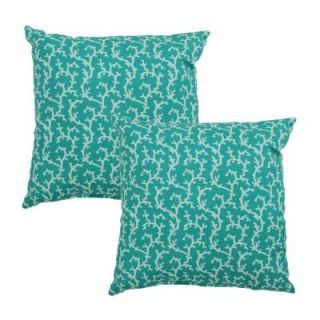 Hampton Bay Coral Mitten Outdoor Throw Pillow (2 Pack) 7050 02001000