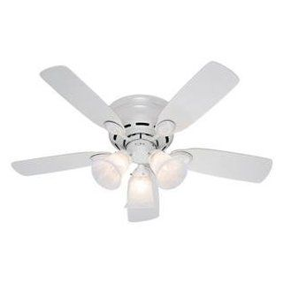 "NEW H 42"" Low Profile Ceiling Fan (Indoor & Outdoor Living)"