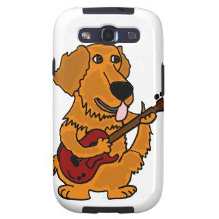 XX  Golden Retriever Dog Playing Guitar Samsung Galaxy S3 Case