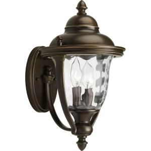 Progress Lighting Prestwick Collection Wall Mount 2 Light Outdoor Oil Rubbed Bronze Lantern P5921 108DI