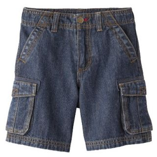Cherokee Infant Toddler Boys Cargo Jean Short   Nautical Blue 4T