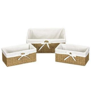 Household Essentials 3 pc. Set of Wicker Utility Baskets
