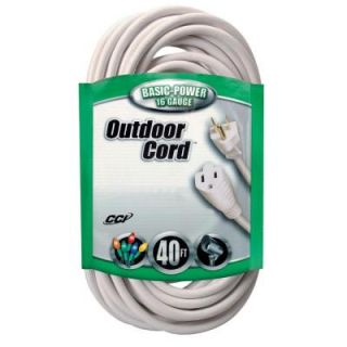 Coleman Cable 40 ft. 16/3 SJTW Outdoor Vinyl Extension Cord 023568801