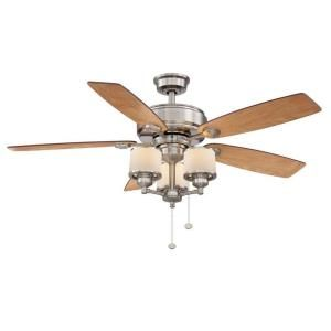 Hampton Bay Waterton II 52 in. Brushed Nickel Ceiling Fan AG510 BN