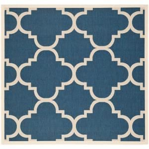 Safavieh Courtyard Navy/Beige 6.6 ft. x 6.6 ft. Square Area Rug CY6243 268 7SQ
