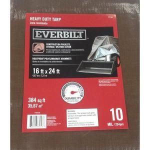 16 ft. x 24 ft. Heavy Duty Silver/Brown Tarp PYHD1624