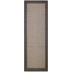 Direct Home Textiles Simple Border Black 2 ft. x 6 ft. Indoor/Outdoor Area Rug DISCONTINUED 6776 2472 546