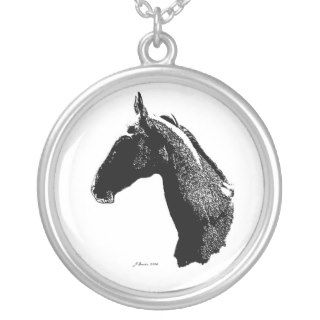 Akhal Teke Horse Head Personalized Necklace