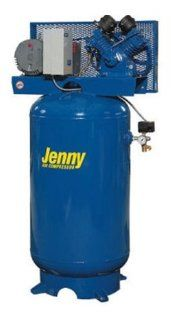 Jenny Compressors GT2B 60V 230/3 2 HP 60 Gallon Tank 3 Phase 230 Volt, Vertical Electric Two Stage Stationary Compressor   Stacked Tank Air Compressors