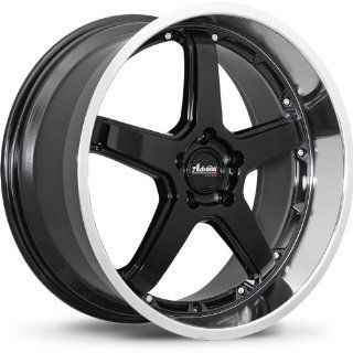 Advanti Racing Traktion 18 Black Wheel / Rim 5x4.5 with a 42mm Offset and a 73.10 Hub Bore. Partnumber A28851442B Automotive
