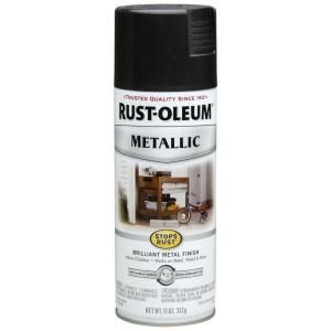 Rust Oleum Stops Rust 11 oz. Metallic Black Night Protective Enamel Spray Paint 7250830