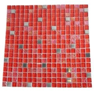 Splashback Tile Bloody Mary Squares 12 in. x 12 in. x 8 mm Glass Wall and Floor Tile (1 sq. ft.) BLOODY MARY SQUARES GLASS TILE