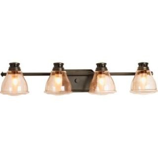 Progress Lighting Academy Collection 4 Light Antique Bronze Bath Light P2813 20WB