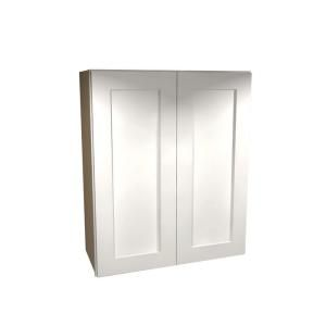 Home Decorators Collection Assembled 36x36x12 in. Wall Double Door Cabinet in Newport Pacific White W3636 NPW