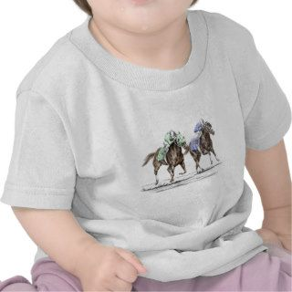 Thoroughbred Horse Racing   The Stretch T shirt