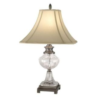 Dale Tiffany 24.5 in. Miles Antique Pewter Table Lamp GT10234