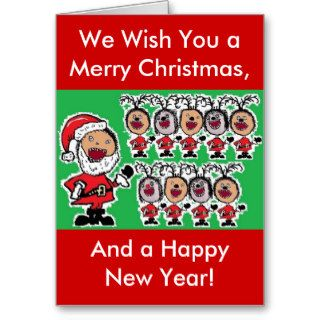 Crazy Funny Christmas Greeting Card
