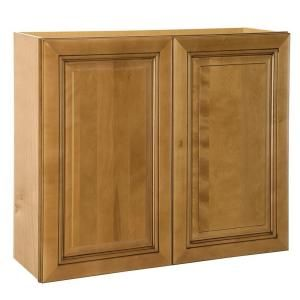 Home Decorators Collection Assembled 36x36x12 in. Wall Double Door Cabinet in Lewiston Toffee Glaze W3636 LTG