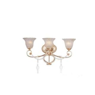 Hampton Bay Allure 3 Light Antique Silver Wall Sconce 14813 023