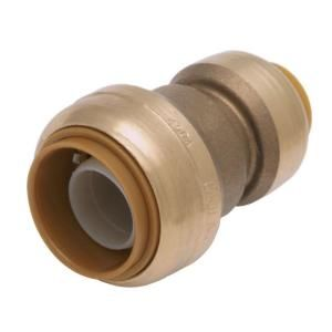 SharkBite 3/4 in. x 1/2 in. Brass Push Fit Straight Reducing Coupling U058LFA