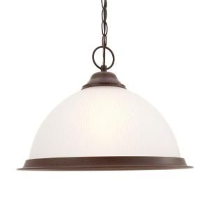Commercial Electric Halophane 1 Light Nutmeg Pendant DK1001 NTMG