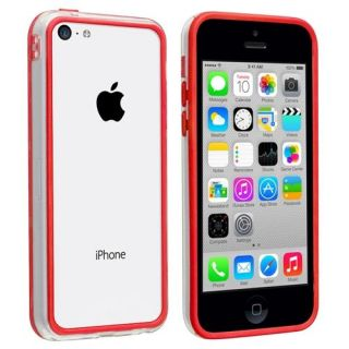 INSTEN Clear/Red TPU Bumper Case For Apple iPhone 5C Accessories