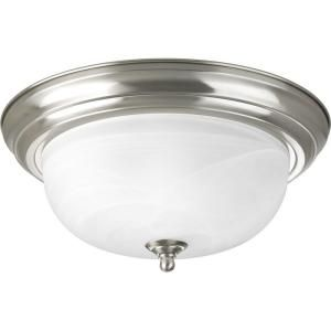 Progress Lighting 2 Light Brushed Nickel Flush Mount P3925 09