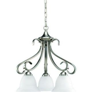 Progress Lighting Torino Collection 3 Light Brushed Nickel Chandelier P4405 09