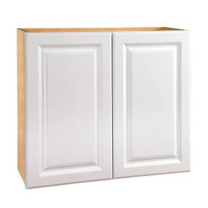 Home Decorators Collection Assembled 30x30x12 in. Wall Double Door Cabinet in Hallmark Arctic White W3030 HAW