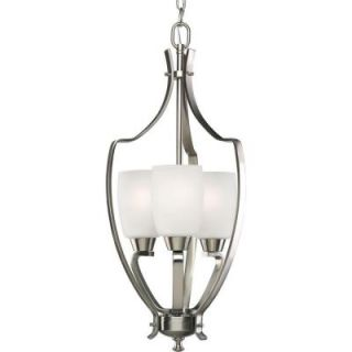 Progress Lighting Wisten Collection Brushed Nickel 3 light Foyer Pendant P3509 09