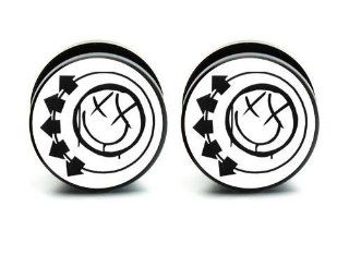 "Pair of Acrylic Blink 182 ear plug gauges tunnel screw on 9/16""14mm  Other Products"