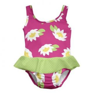 i play. Baby Girls Infant Ultimate Swim Diaper Skirty Tanksuit, Pink Lotus, 12 Months Clothing