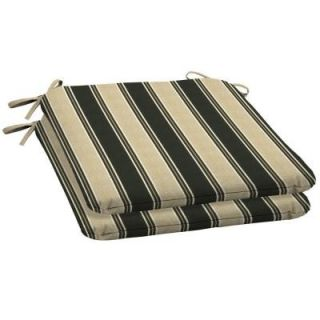 Arden Twilight Stripe Wrought Iron Seat Outdoor Cushion 2 Pack DISCONTINUED JA44060B 9D2
