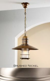Lustrarte 207 00 0668 Brushed Nickel Ancora One Light Down Light Pendant from the Ancora Collection   Ceiling Pendant Fixtures