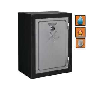 Stack On Total Defense 29 cu. ft. Fire/Waterproof Electronic Lock Safe with Door Storage TD 54 SB E S DS