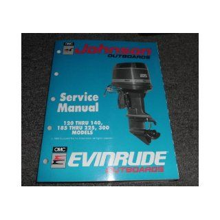 1990 JOHNSON EVINRUDE 120 140 185 200 225 300 HP Service Shop Repair Manual johnson Books