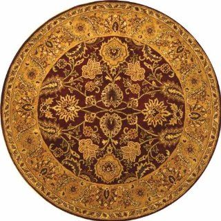 Safavieh CL244B 4R Classics Collection Handmade Dark Plum and Gold Wool Round Area Rug, 3 Feet 6 Inch Round