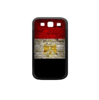 Egypt Flag Samsung Galaxy S3 Black Case Brick Wall Design Cell Phones & Accessories