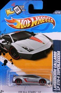 Hot Wheels 2012, Lamborghini Gallardo LP 570 4 Superleggera (Silver) Red Line tires, HW All Stars '12 # 126/247. 164 Scale Die Cast. Toys & Games