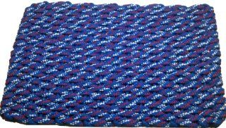 Rockport Rope Doormats 279 Indoor and Outdoor Doormats, 20 by 30 Inch, Bright Blue/Red/White Stripes/Bright Blue Insert  Red And White Rug  Patio, Lawn & Garden