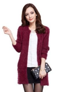 ROSMANDY 7 Colors Knit Open Front Long Cardigan Sweater (A)