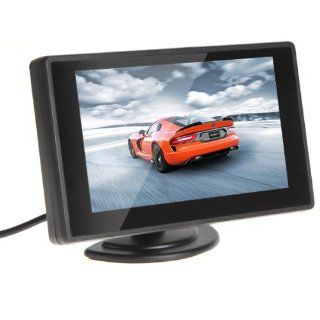 4.3'' Color TFT Car Monitor Support 480 x 272 Resolution + Car/Automobile Rear view System Mirror Display Monitor  Vehicle Overhead Video