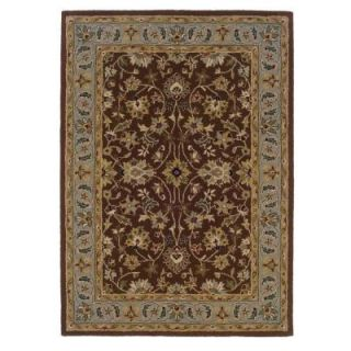 Linon Home Decor Trio Brown and Light Blue 8 ft. x 10 ft. Area Rug RUG TT0281