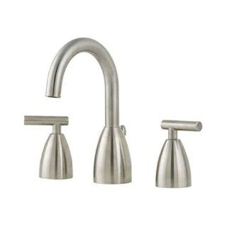 "Price Pfister T49 NK00 Contempra Lavatory 8"" 15"" Lavatory Faucet with All Metal Pop Up, Satin Nickel   Touch On Bathroom Sink Faucets"