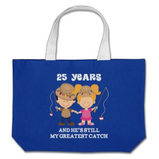 25th Wedding Anniversary Funny Gift For Her Canvas Bags