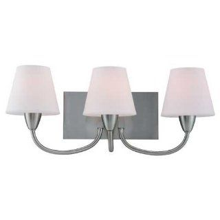 Sea Gull Lighting 44386BLE 962 Stockholm Three Light Vanity/Bath Fixture, Brushed Nickel Finish with Etched Opal Glass Shades
