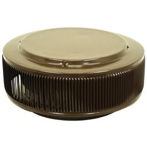 Active Ventilation 14 in. Aluminum Round Retro Fit Roof Vent in Brown AV 14 RF BR
